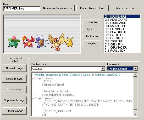 Pokemon Script Project - Manuel d'utilisation